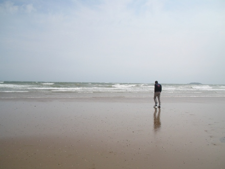 Jeremy by the ocean in Youghal